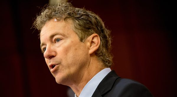 Sen. Rand Paul, R-Ky. a Republican presidential candidate, speaks at a news conference on Capitol Hill in Washington, D.C., June 2. Paul will be the featured speaker at the annual Baltimore County Republican Party's Lincoln Reagan Dinner Tuesday. (AP Photo/Andrew Harnik)