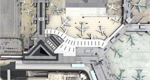 Overhead rendering of what the completed connection between Concourse D and Concourse E at Baltimore Washington International Thurgood Marshall will look like when completed. The construction will add gates to support more international flights. (Courtesy Baltimore Washington International Thurgood Marshall Airport)