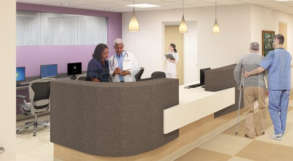 The new Senior Emergency Department at Saint Agnes Hospital will feature special features to improve the comfort of older patients such as handrails, quieter rooms and hearing aids. (Photos courtesy of Saint Agnes Hospital)