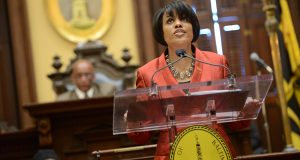 "Baltimore Mayor Stephanie Rawlings-Blake must now look at alternative solutions for the city's mass-transit issues after never formulating a ""Plan B"" in the wake of Gov. Larry Hogan's killing of the Red Line project. (The Daily Record/Maximilian Franz)"