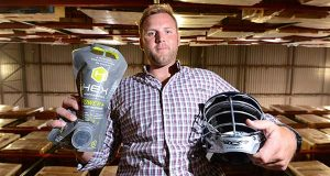 University of Maryland-Baltimore County graduate Drew Westervelt and a friend with a background as a commercial cleaning chemist started HEX Performance, a line of cleaning products designed for performance apparel and equipment. (The Daily Record / Maximilian Franz)
