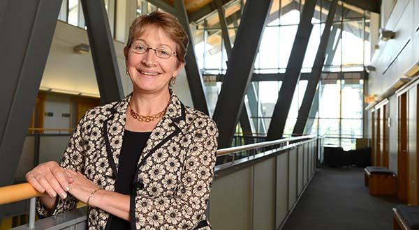 But to move beyond mere stability, business schools must adapt their curricula to the needs of the communities they serve, says Kathleen Getz, the new dean of Loyola University Maryland's Sellinger School of Business and Management. (The Daily Record / Maximilian Franz)