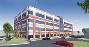 Rendering of 10170 Junction Drive. Submitted by St. John Properties.