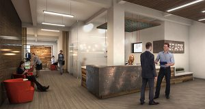 Submitted rendering of a SPARK office space