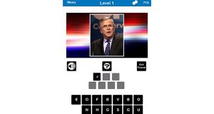 PlayScreen LLC's new Who's The Candidate challenges players to recognize 2016 presidential candidates from their photos. (PlayScreen LLC screenshot)