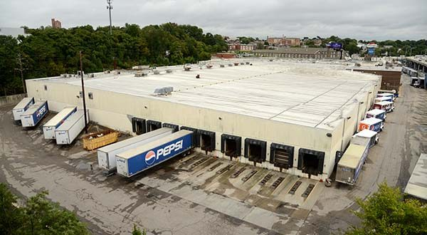 Overview of the Pepsi Building in Hampden. (The Daily Record / Maximilian Franz)