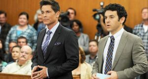 Rob Lowe, left, and Fred Savage in 'The Grinder.' (Fox Broadcasting Co.)