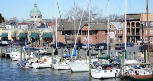 City Dock in Annapolis. (The Daily Record / Maximilian Franz.)