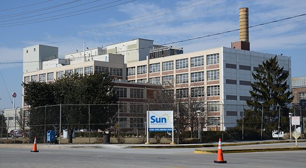 Exterior of the Sun Products factory at 5300 Holabird Avenue in Baltimore. (The Daily Record/Maximilian Franz)