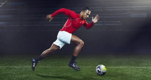 "Under Armour's  ""Slay Your Next Giant"" campaign featuring Memphis Depay, a forward with the English soccer team Manchester  United. (PRNewsFoto/Under Armour, Inc.)"