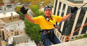 Choice Hotels CEO Rappels 15 Stories To Raise Awareness About Addiction (PRNewsFoto/Choice Hotels International, In)