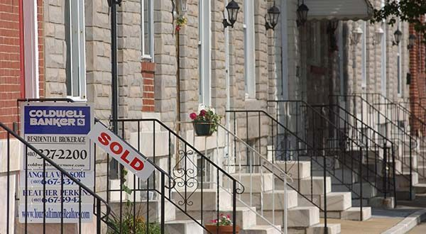 A sign on a house in Paterson Park indicates that it sold. (File)