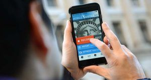 The ACLU's Mobile Justice smartphone app is meant to provide the public with a way of video recording and reporting police officers encounters with the public. (the Daily Record / Maximilian Franz)