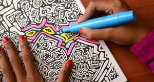 Baltimore artist will help you color your stress away
