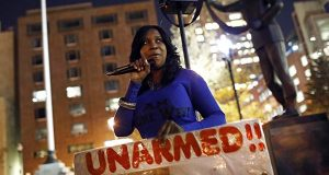 Woman's weekly protest at Baltimore City Hall continues