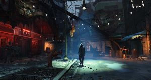 "In this photo provided by Bethesda Softworks, a survivor explores the streets of post-apocalyptic Boston in the video game, ""Fallout 4."" (Bethesda Softworks via AP)"