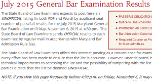 Took the July bar exam? Your unofficial results have been posted