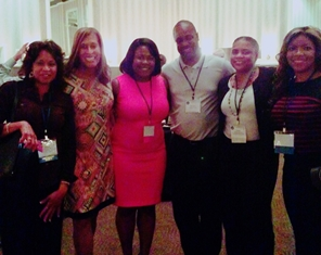 The author, far right, poses with attendees at the MSBA bar conference, including MSBA President Pamila J. Brown, second from left. (Courtesy of Danielle Williamson)