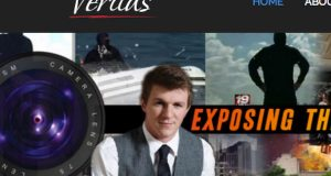 James O'Keefe and his Project Veritas website. (screen shot of Project Veritas Website)