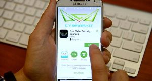 Cybrary's app was temporarily removed from the Google Play store. It was later returned to the store after a social media campaign called for its restoration. (The Daily Record / Maximilian Franz)