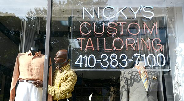 Clifton Hutchenson, Owner and Tailor at Nicky's Tailoring in Baltimore. Photos of him working in his shop. (The Daily Record/Maximilian Franz)