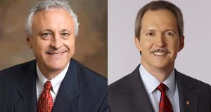 Bill Stromberg of T. Rowe Price, left, and Lawrence Kurzius of McCormick