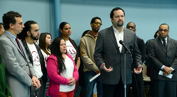 Ben Jealous, a senior fellow at the Center for American Progress and former president of the NAACP, speaks in 2015 in West Baltimore.  (Maximilian Franz/The Daily Record)