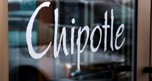 The door at a Chipotle Mexican Grill in Robinson Township, Pa. (Gene J. Puskar/AP File photo)