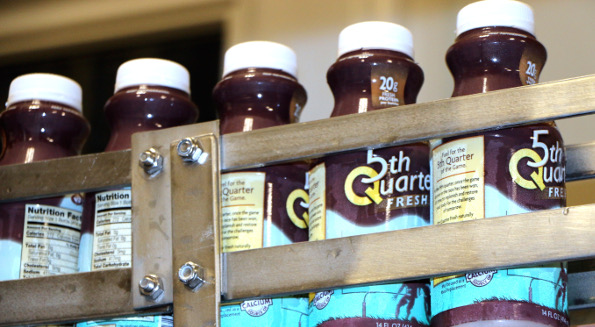 Fifth Quarter Fresh says its chocolate milk is a good for athletes after a workout. (Photo from Fifth Quarter Fresh)