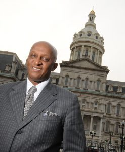 Jack Young, City Council President for Baltimore, outside of City Hall. (Maximilian Franz/ The Daily Record)