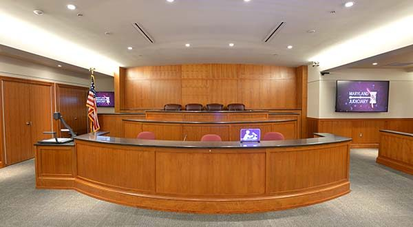 A bill before the House of Delegates would permit the recording of sentencing proceedings in courtrooms, such as this one in Carroll County Circuit Court, with a judge's consent. The Judiciary is against the proposed legislation.