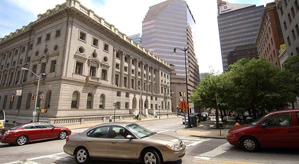 The Judiciary seeks to add 11 circuit court judges in eight jurisdictions, including two judges each for the circuit courts of Baltimore city, and Baltimore and Montgomery counties. Shown here is the Clarence M. Mitchell Jr. Courthouse in Baltimore. (File)