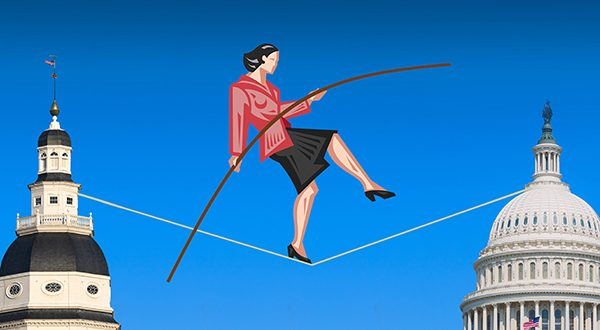 WEB Congress Tightrope IllustrationMFweb