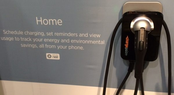 A home charging station at CES 2016. (Photo: Frank Gorman)
