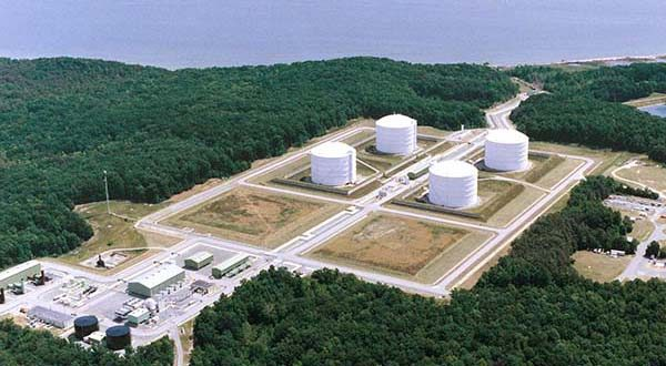 Cove Point LNG  Terminal in Lusby, Md. (File)