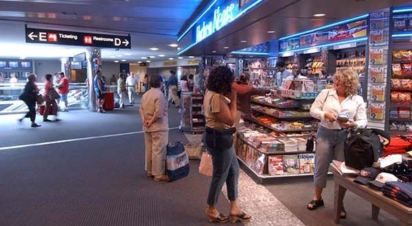 A retail and restaurant area at BWI Thurgood Marshall airport. (File)