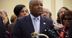 Officials, including Prince George's County Executive Rushern L. Baker III, believe Hogan should have included the $15 million subsidy in both this year's and last year's budget according to the terms of a 2011 memorandum of understanding between the state, county and health system to build a new hospital. (The Daily Record / Maximilian Franz)