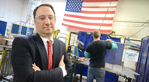 Drew Greenblatt, president and owner of Marlin Steel Wire Products. (File)
