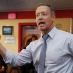 Former Maryland Gov. Martin O'Malley speaks during a campaign stop in January 2016 at the Tilton Diner in Tilton, N.H. (Jim Cole/AP file photo)