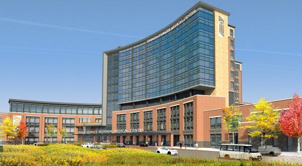 A rendering of Prince George's County Regional Medical Center. (Courtesy Dimensions Healthcare System)