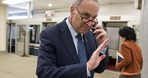 """Nothing is off the table"" for Senate rules changes if Republicans quickly confirm a new justice, Senate Democratic leader Chuck Schumer of New York warned in conference call Saturday with Democratic senators, according to a person on the private call.  (AP Photo/J. Scott Applewhite)"