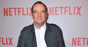 "In this April 27, 2015 file photo, Kevin Spacey, who portrays President Francis Underwood, arrives at the Q&A Screening of ""The House Of Cards"" in Beverly Hills, Calif. A painting of the fictional U.S. chief executive, as portrayed by Spacey in Netflix's political drama ""House of Cards,"" was to be unveiled at the National Portrait Gallery in Washington, Monday night, Feb. 22, 2016. The portrait is a joint project between British artist Jonathan Yeo and the museum, Netflix said. It's scheduled to be on public display from Wednesday through October. (Photo by Jordan Strauss/Invision/AP, File)"