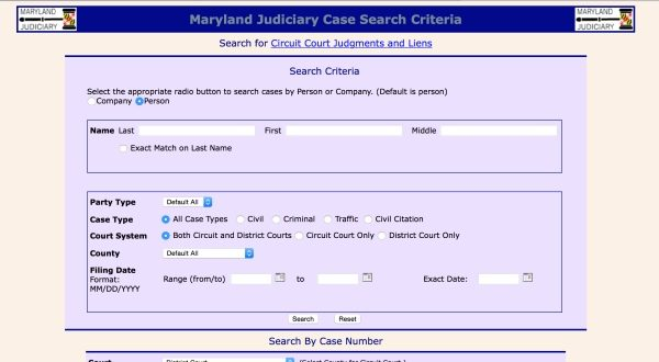 Maryland Judiciary Case Search | People Lookup