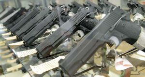 Guns on display in 2013 at  FreeState Gun Range in Middle River.  (File photo)