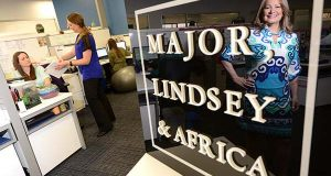 Randi Lewis this week took the helm as director of a newly opened Baltimore office of legal recruiting firm Major, Lindsey & Africa. (The Daily Record / Maximilian Franz)