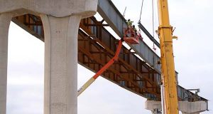 In this file photo, and overpass is built along I-95 near the ICC. (File)