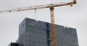 Exelon's headquarters under construction at Harbor Point. (File photo)