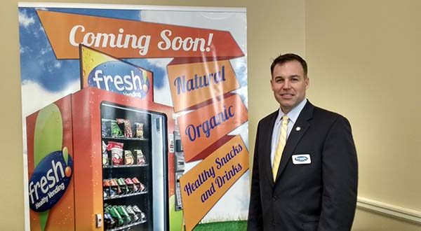 Erik Gottschalk, partner with Fresh Fit Vending, a local franchise of Fresh & Healthy Vending.