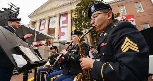 A Navy band performs outside of the state house at Gov. Larry Hogan's Inauguration. (File)