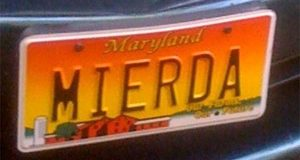"""""""I thought it was cute,"""" John T. Mitchell told the Court of Appeals on Wednesday about his vanity license plate, which had the Spanish word for 's--t'. (Photo provided)"""